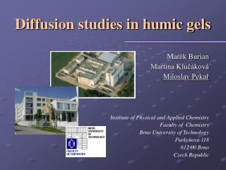 Diffusion studies in humic gels