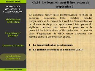Ch.14   Le document peut-il être vecteur de coopération ?