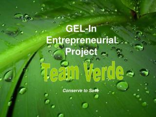 GEL-In  Entrepreneurial  Project