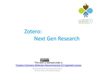 Zotero: 			Next Gen Research