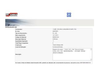 ZF detectou 11 peças da 0092.301.081 no lote da  0092.301.042.