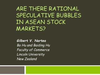Are there rational speculative bubbles in ASEAN stock markets?