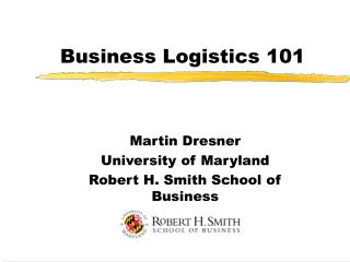 Business Logistics 101