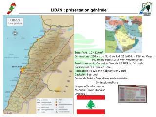 LIBAN : présentation générale