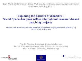 Exploring the barriers of disability �