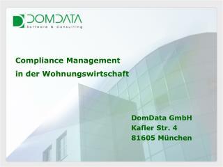 Compliance Management  in der Wohnungswirtschaft