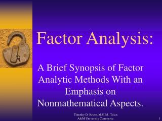 Factor Analysis: