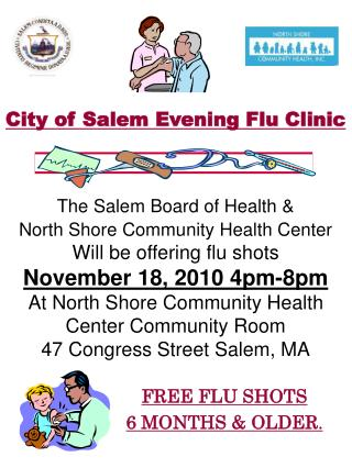 FREE FLU SHOTS  6 MONTHS & OLDER .
