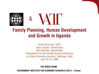 Family Planning, Human Development and Growth in Uganda