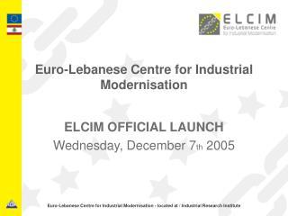 Euro-Lebanese Centre for Industrial Modernisation
