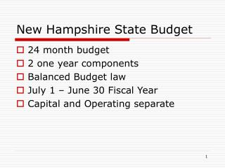 New Hampshire State Budget