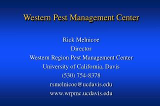 Western Pest Management Center