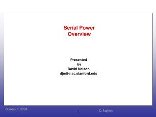 Serial Power Overview