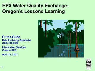 EPA Water Quality Exchange: Oregon's Lessons Learning