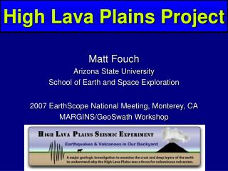High Lava Plains Project