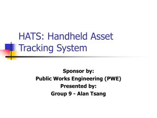 HATS: Handheld Asset Tracking System