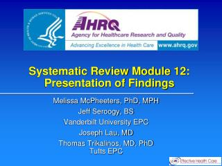 Systematic Review Module 12: Presentation of Findings