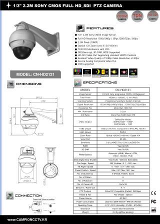 "1/3"" 2.2M SONY CMOS FULL HD_SDI  PTZ CAMERA"