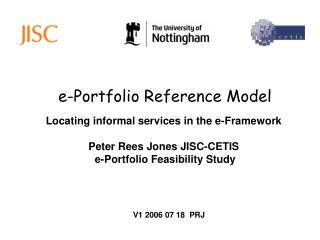 e-Portfolio Reference Model