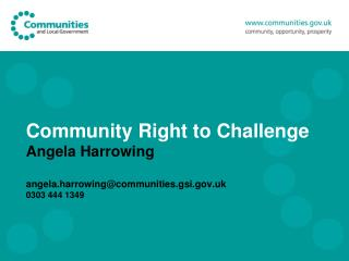 Community Right to Challenge Localism Act 2011