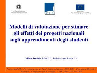 Modelli di valutazione per stimare gli effetti dei progetti nazionali