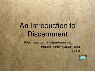An Introduction to Discernment