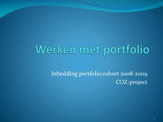 Werken met portfolio