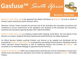 Gasfuse™  South Africa