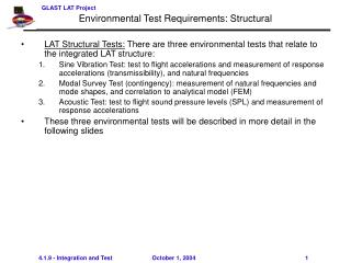 Environmental Test Requirements: Structural