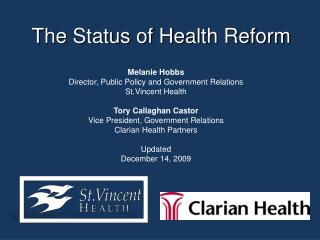 The Status of Health Reform