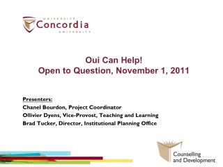Oui Can Help! Open to Question, November 1, 2011
