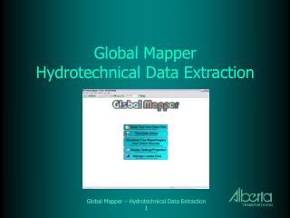 Global Mapper Hydrotechnical Data Extraction