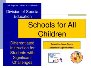 Los Angeles Unified School District Division of Special Education