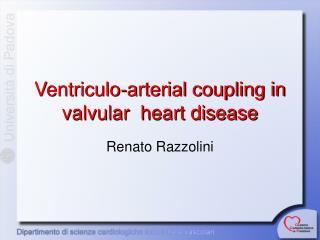 Ventriculo-arterial coupling in valvular  heart disease