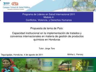 Tegucigalpa, Honduras, 4 de agosto de 2011
