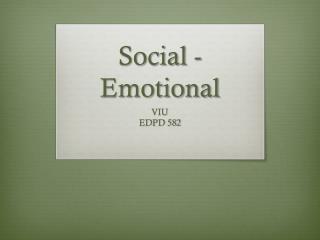 Social -Emotional