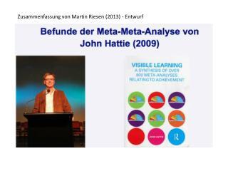 Zusammenfassung von Martin Riesen (2013) - Entwurf