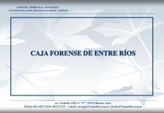 CAJA FORENSE DE ENTRE RÍOS