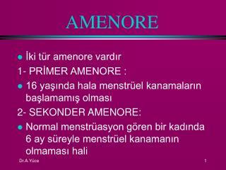 AMENORE