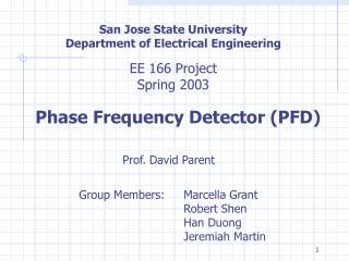 San Jose State University Department of Electrical Engineering