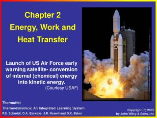 Chapter 2 Energy, Work and  Heat Transfer
