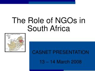 The Role of NGOs in South Africa