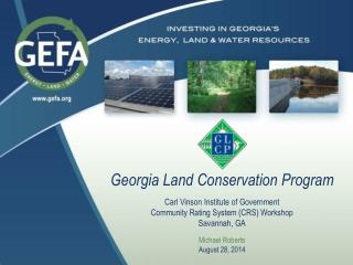 Georgia Land Conservation Program Carl Vinson Institute of Government