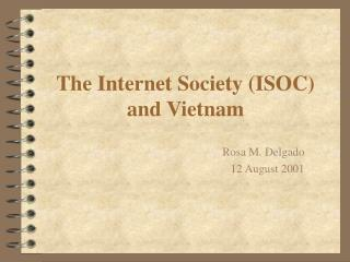 The Internet Society (ISOC) and Vietnam