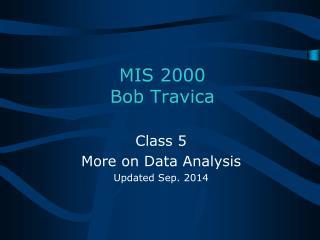 MIS 2000  Bob Travica