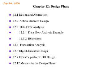 Chapter 12: Design Phase