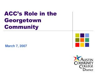 ACC�s Role in the Georgetown Community