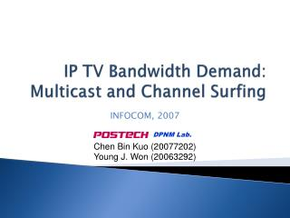 IP TV Bandwidth Demand: Multicast and Channel Surfing