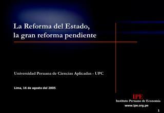 Lima, 16 de agosto del 2005