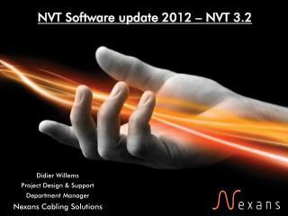 NVT Software update 2012 – NVT 3.2